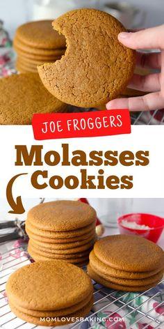 Date Molasses Recipes, 100 Cookies Recipe, Best Homemade Cookie Recipe, Old Fashioned Molasses Cookies, Soft Cookie Recipe, Ginger Molasses Cookies, Delicious Cookie Recipes, Cookies, Deserts