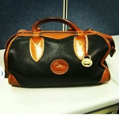 """Vintage Downey & Burke Pristine Condition. .Original Owner. .20 years old..will post more pics...Measurements. 11.5 side to side on the bottom. 12"""" from top of handle to bottom of bsg. 8"""" across side. Thank you. Dooney & Bourke Bags"""