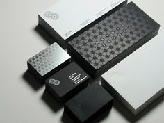 Sleek Black & Silver Identity Set with Pattern // Mathias Tanguy | Visual identity by DMWORKROOM