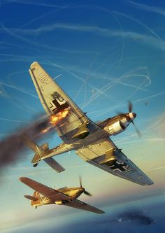 20th July - So many convoys came under attack, and many dogfights took place over the channel and as close as possible to the English coast. 32 Squadron from Biggin Hill (Hurricanes) were providing air cover for a channel convoy when attacked by Ju87s and Bf109s with the loss of two Hurricanes.