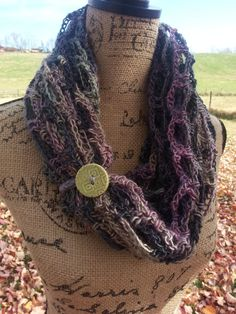 Your place to buy and sell all things handmade Crochet Buttons, Shawls, Different Styles, Wool Blend, Cowl, Infinity, Crochet Necklace, Scarves, My Etsy Shop