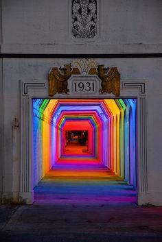 Une installation lumineuse contre la peur des passages souterrains - Bill FitzGibbons