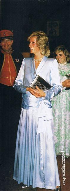 July 26, 1984: Princess Diana at the Royal Tournament at Earls Court, London.
