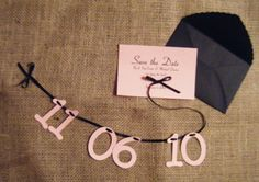DIY save the date, simple yet effective great for bridesmaids to do together