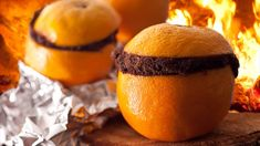 Once you've enjoyed the tasty insides of an orange, fill it with chocolate cake batter or your favorite mix, wrap it up in foil, and then place the package on the smoldering coals of your fire. In about a half-hour, you'll have a delicious single-serving cake, ready to eat.