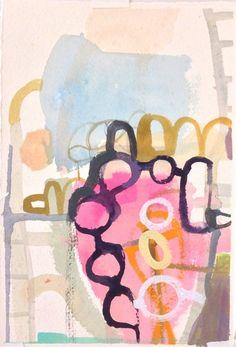 Bonnie Levinthal, Havana, 2013, acrylic gouache on handmade  paper