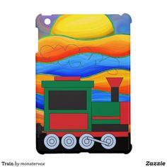 Train Case For The iPad Mini #Train #Locomotive #ChooChoo #Travel #Transportation #Engine #Railroad #Tracks #School #Student #Teacher #Kids #Laptop #Tablet #iPad #iPadMini #Case #Cover