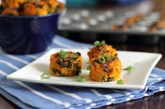 Sweet Potato Kale Bites | Tasty Kitchen- makes 24 mini muffin tin bites