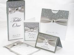 12 Glitter Wedding Invitations