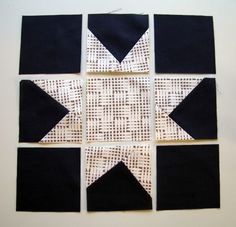 would love to sew this wonky star deconstructed like this! (add thin sashing)
