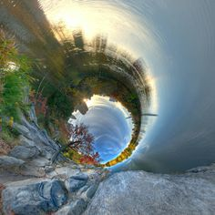 """asylum-art: "" Alternate Perspective – The surreal panoramic photographs by RANDY SCOTT SLAVIN "" Some impressive 360 ° spherical panoramic photographs from his ""Alternate. Panoramic Photography, Landscape Photography, 360 Degree Photography, Espanto, Creative Landscape, City Scene, Photo Series, Optical Illusions, Belle Photo"