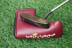 Scotty Cameron Gun Blue CGI Classic II putter with brand new burgundy Old Style NOS headcover