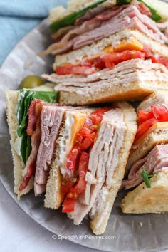 Recipe Index - Spend With Pennies Reuben Sandwich, Best Sandwich, Picnic Sandwiches, Turkey Club Sandwich, Breakfast Sandwiches, Club Sandwich Recipes, Chicken Sandwich Recipes, Delicious Sandwiches, Vegetarian Recipes