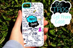 DIY:The Fault in our Stars cellphone case https://womenslittletips.blogspot.com http://amzn.to/2lkg9Ua