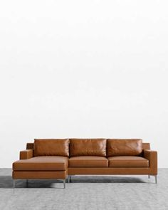 Sit back in contemporary and mid-century modern sofas and sectionals. Modern Leather Sofa, Leather Sectional, Sectional Sofa, Couches, Mid Century Modern Sofa, Mid Century Modern Furniture, Emerald Green Sofa, Sofa Design, Interior Design
