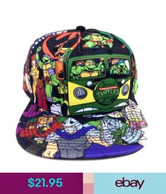 Hats Teenage Mutant Ninja Turtles All Over Print Snapback Hat Cap Cartoon  Tmnt Logo  ebay bb53e9e93727