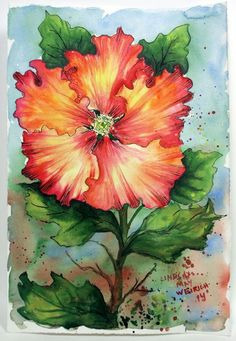 Let's Paint a Hibiscus in Watercolor!