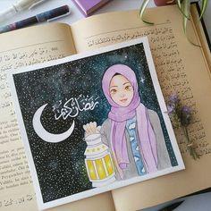Islam is beautiful Girl Cartoon, Cartoon Art, Hijab Drawing, Ariana Grande Drawings, Islamic Cartoon, Ramadan Crafts, Anime Muslim, Hijab Cartoon, Art Antique
