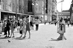 Milano, la strada, Piazza Duomo.