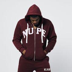 Heavyweight krimson NUPE Kappa Alpha Psi zip up hoodie. Kappa Alpha Psi Fraternity, Divine Nine, Zip Ups, Mens Fashion, Hoodies, Higher Education, Casual, Sons, How To Wear