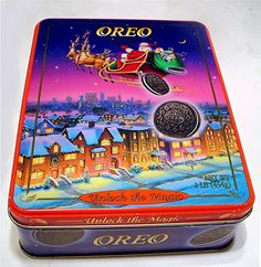 OREO COOKIE 1995 LIMITED EDITION CHRISTMAS SANTA COLLECTORS TIN CANISTER (empty) | eBay