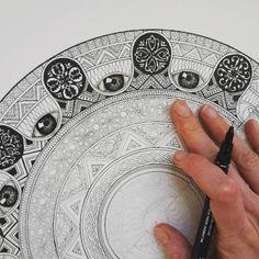Project in progress #mandala #zentangle #zendala #eye #realistic #zentangleart #patterns #instaart #artoftheday #art_collective #art_worldly #artsupporting #art #drawing #illustration #isograph #ornaments #artfido #art_support #artshare...