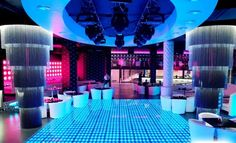 Interesting decision and elements for nightclub decoration.