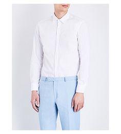 HARDY AMIES Seersucker Casual-Fit Stretch-Cotton Shirt. #hardyamies #cloth #shirts