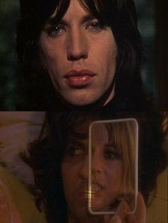 """Mick Jagger, Anita Pallenberg, and James Fox in Performance (1970, dir. Nicolas Roeg)  """"The only performance that makes it, that makes it all the way, is the one that achieves madness. Am I right? Eh?"""""""
