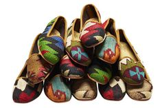 Colorful loafers, made from vintage kilim rugs, stride from summer to fall http://online.wsj.com/articles/fashioning-cool-and-cozy-shoes-from-vintage-kilim-rugs-1408128073