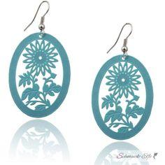 1 Paar  Ohr Hänger Bohemian Style türkis blau...