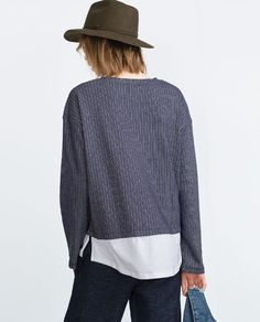 Image 2 of COMBINED SWEATSHIRT from Zara