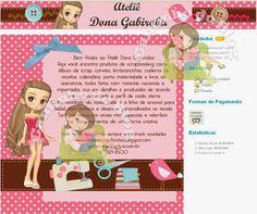 Encomenda Entregue Blog e Lojinha Ateliê Dona Gabiroba - Cantinho do blog Layouts e Templates para Blogger