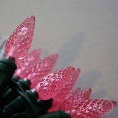 Pink Christmas lights