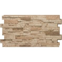 Stacked Stone #35 Desert Tan 24 in. x 48 in. Stone Veneer Panel (4-Pack) Stone Siding Panels, Faux Stone Siding, Stone Veneer Panels, Faux Brick, Stacked Stone Panels, Faux Stone Panels, Faux Panels, Stacked Stones, Home Depot