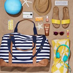 Party in a beach bag, perfect for toting around all your summer must-haves.