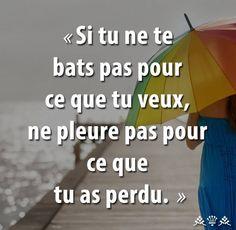 Ne pleure pas pour ce que tu as perdu Dark Quotes, Best Quotes, Love Quotes, French Words, French Quotes, English Quotes, Positive Attitude, Positive Thoughts, Motivational Quotes