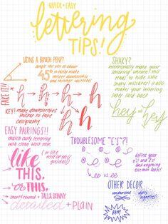 #lettering #tips #caligrafía