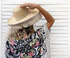 SOBRERO ECRU beach straw hat   Cleo Gatzeli  :) <3 http://www.cleogatzeli.com/product-category/accessories/hats/
