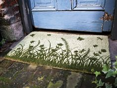garden silhouettes coir mat from Thos. Baker
