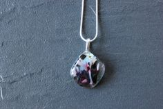 Confetti Glass Fused Pendant Handmade For Her by GlassJewelleryByJ