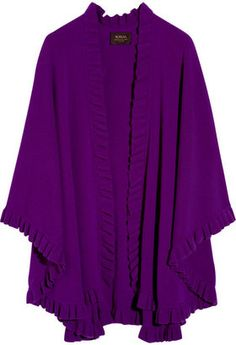 ShopStyle: N.Peal Cashmere Frilled cashmere cape