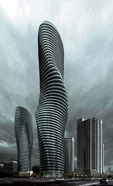 The Absolute Towers, being constructed in Canada, are also nicknamed 'Marilyn Monroe' for their curves