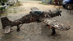 Scrap Metal Art   Scrap Metal Art Ships, Boats, Alien Motorcycles, Alien Motor bikes ...