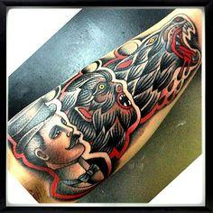 Werewolf tattoo. Epic.