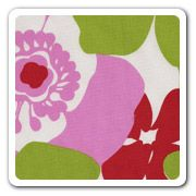 red, pink, green. nice fabric! maybe for valences?