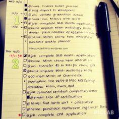 Alternative bullet journal key & using gtd system