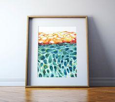 Skin Histology Watercolor Print - Skin Cell Art - Integumentary System - Epidermis Art - Abstract Anatomy Art