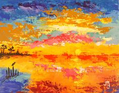 Coastal Sunset by J. Travis Duncan  8x10 Canvas Panel by panoplei