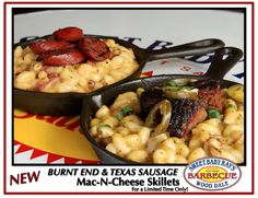 Burnt End & Texas Sausage Mac-n-Cheese Skillets!